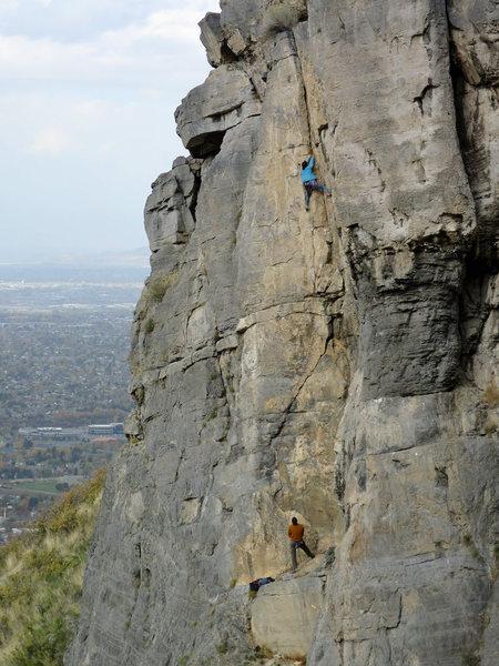 Rock Climbing Photo: Natasha Hodges on a cool, November afternoon.