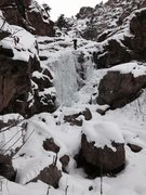 Clear Creek - Coors Lite - lower falls; March 1st.