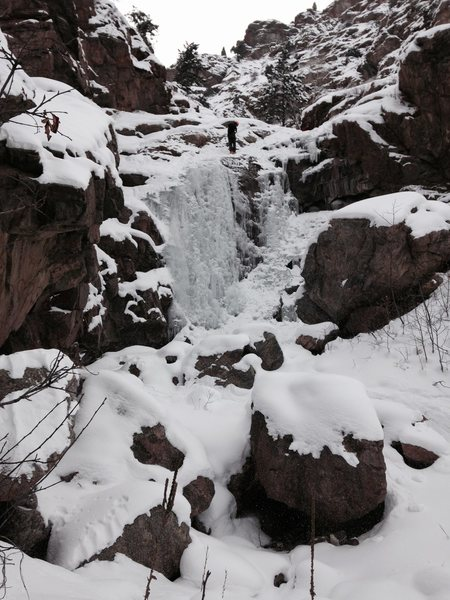 Rock Climbing Photo: Lower falls on March 1, 2015.
