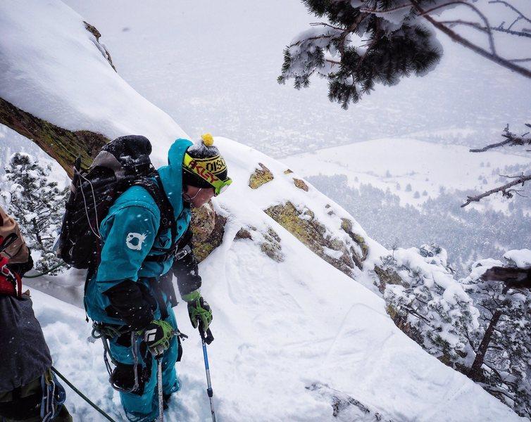 Rock Climbing Photo: Sure I'll ski that!