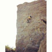 Rock Climbing Photo: Brad soloing around Stoney Point, CA