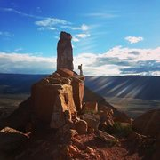 Rock Climbing Photo: Soaking up the sun after a chilly day climbing Fin...