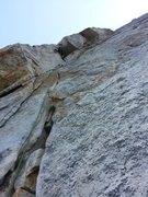 Rock Climbing Photo: Tesia on the really fun mini-roof on the third pit...