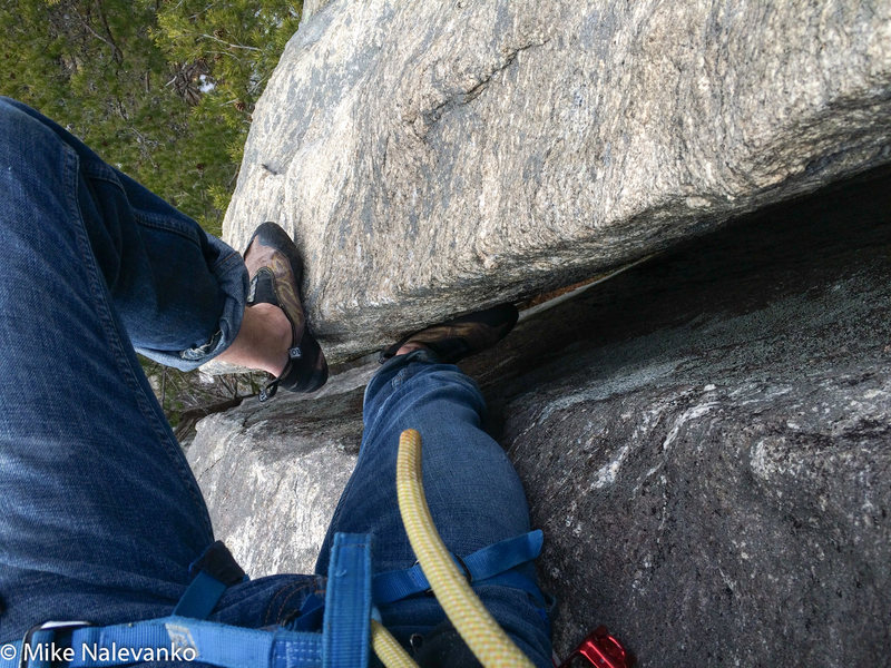 Rock Climbing Photo: Beginning of the Wide CracK