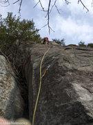 Rock Climbing Photo: Start of Nine Lives