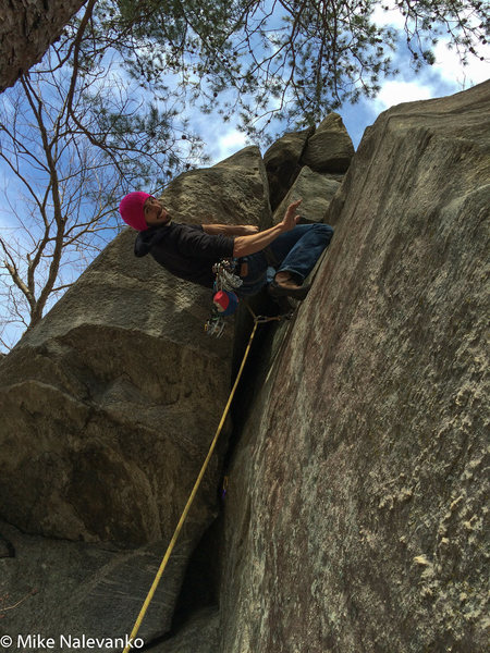 Rock Climbing Photo: right before the Double Knee Bar rest