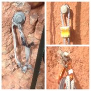 "Rock Climbing Photo: Some of the weird ""bolts"" toward the bot..."