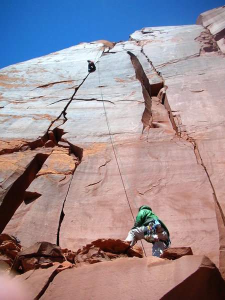 Indian Creek crack climbing :)<br>