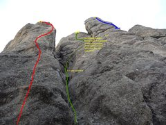 Rock Climbing Photo: green route
