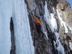 Rock Climbing Photo: Nate Erickson at the 4th bolt.