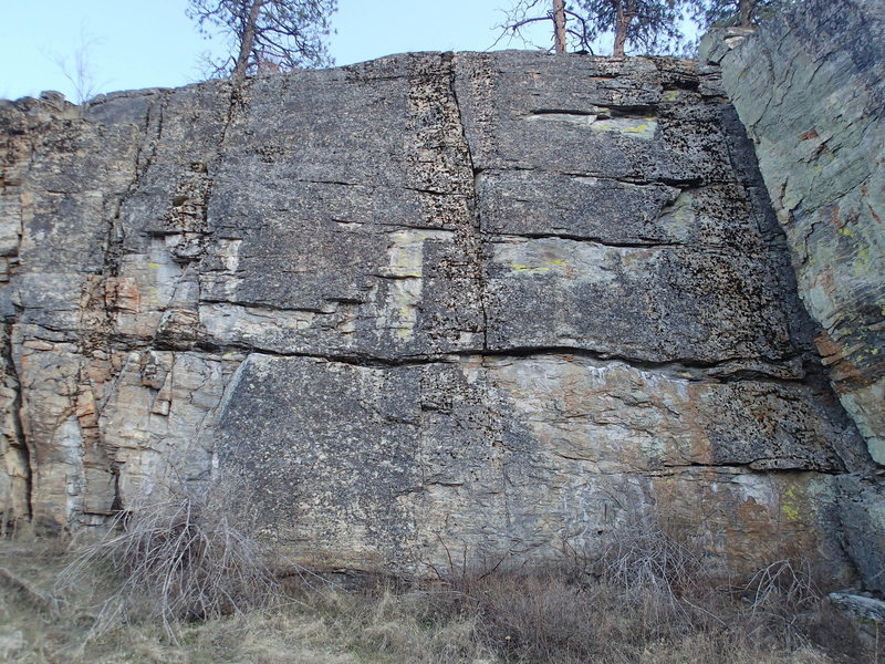 Main wall of the Upper West Face