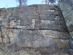 Rock Climbing Photo: Main wall of the Upper West Face