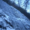 West Face Wall - Further climbs to the right of the rappel in
