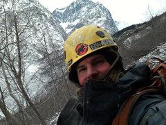 Rock Climbing Photo: chillin high in eagle river