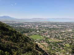 Rock Climbing Photo: The view of Utah Valley from Hinterlands