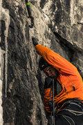 Rock Climbing Photo: Just bite the rope