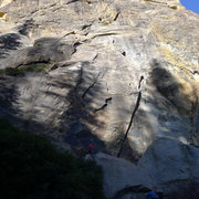 Rock Climbing Photo: Right side of 557 Dome
