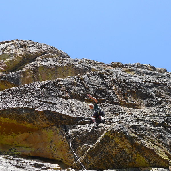 Mike Arechiga on, See You In Heaven. 5.10a