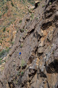 Rock Climbing Photo: Scott leading the FA ascent on New Patriot, Old So...