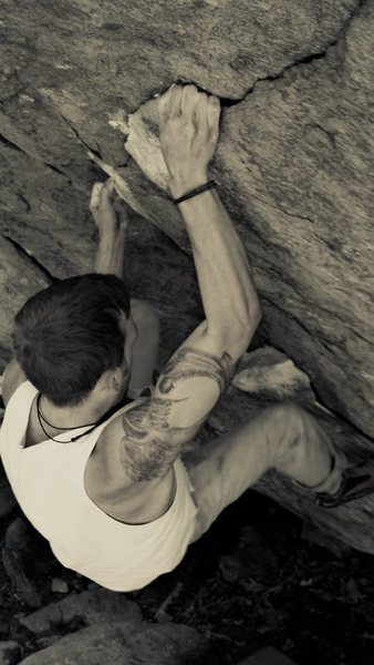 Rock Climbing Photo: French crack V7