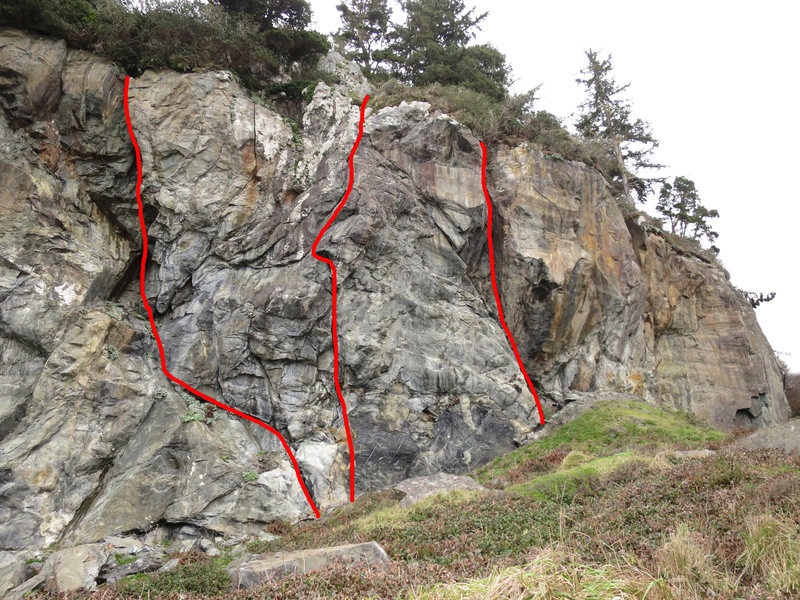 Mussel Rock Routes