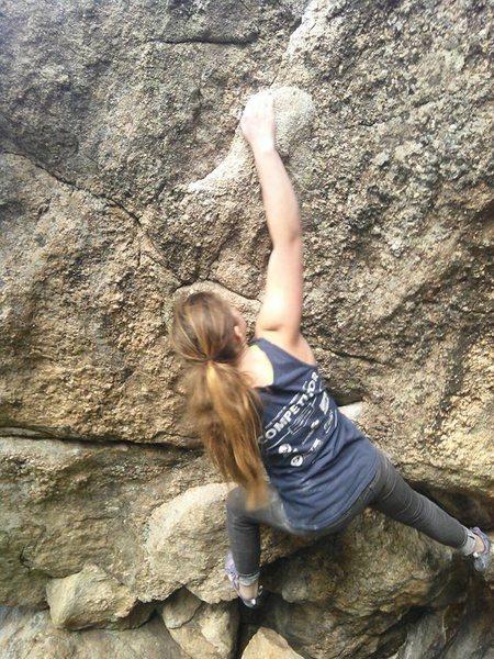 Bouldering at three sisters