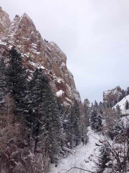 Rock Climbing Photo: Winter wonderland.