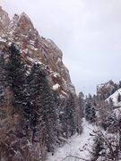 Rock Climbing Photo: Winter wonderland.