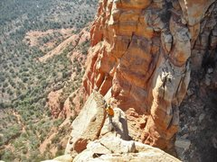 Rock Climbing Photo: The cool shoulder belay ledge