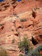 Rock Climbing Photo: Jeff Snyder on the veg-fest sandbox first pitch.