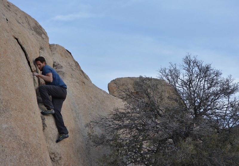 Rock Climbing Photo: Adam Gill finishing a hard V0