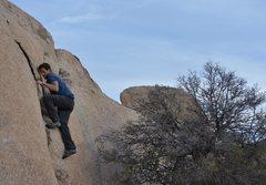 Rock Climbing Photo: Adam Gill finishing a hard V0