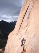Rock Climbing Photo: Dramatic start to this great route