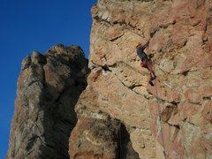 Rock Climbing Photo: Sam Balyeat on Doberman Pinscher