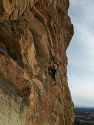 Rock Climbing Photo: First ascent of Doberman Pinscher.  Amazing Februa...