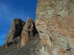Rock Climbing Photo: Sam on Doberman Pinscher