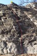 Rock Climbing Photo: Low Hanging Fruit topo