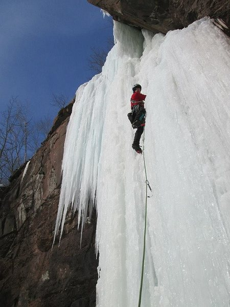 Rock Climbing Photo: It starts out steep.  (And doesn't let up too much...