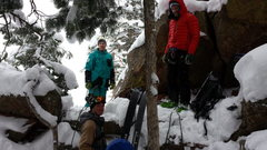 Rock Climbing Photo: On our hike down, we ran into this group atop Silk...