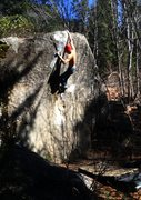 Rock Climbing Photo: A spectacular early March day on an amazing boulde...