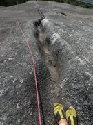 Rock Climbing Photo: looking down the elephant steps, 1 bolt, 1 cam in ...