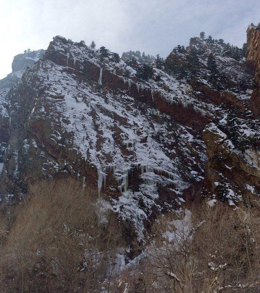 Rock Climbing Photo: Wind Tower ice.