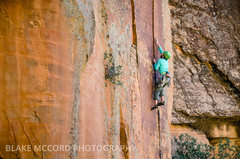 Rock Climbing Photo: J.Snyder getting to do a extremely rare and specia...