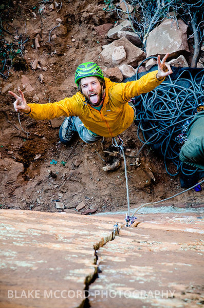 Rock Climbing Photo: Incredibly content with fun climbing and great fri...