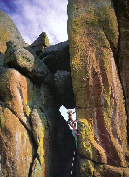"""Photo from """"Women of Climbing"""" calendar; if someone knows who the photographer is let me know so I can credit them. Awesome picture."""