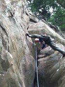 Rock Climbing Photo: Jeff Thomas leading.