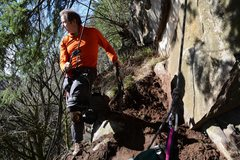 Rock Climbing Photo: Digging the route as they say.....photo Jeff Thoma...