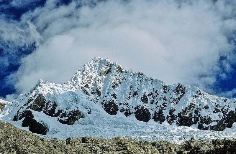 Rock Climbing Photo: Alpamayo from base camp.
