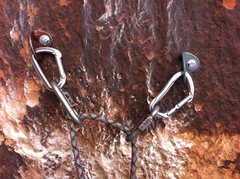 Rock Climbing Photo: New anchor..