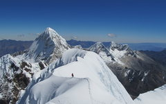 Rock Climbing Photo: Quitaraju's ridgeline. 6000m, Peru